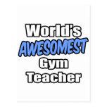 World's Awesomest Gym Teacher Postcard