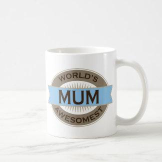 Worlds Awesomest Mum Basic White Mug