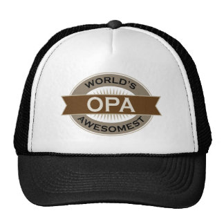Worlds Awesomest Opa Mesh Hat