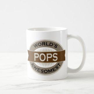 Worlds Awesomest Pops Basic White Mug