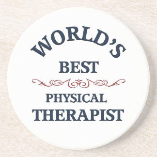 World's beat Physical Therapist Drink Coaster
