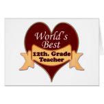 World's Best 12th. Grade Teacher Cards