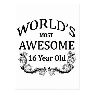 World's Best 16 Year Old Postcard