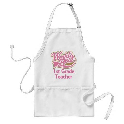 Worlds Best 1st Grade Teacher Aprons