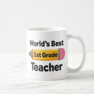 Worlds Best 1st Grade Teacher Pencil Mug