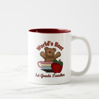 World's Best 1st Grade Teacher Two-Tone Coffee Mug