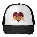 World's Best 2nd. Grade Teacher Mesh Hats