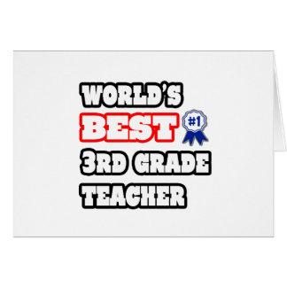 World's Best 3rd Grade Teacher Cards