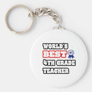 World's Best 4th Grade Teacher Keychains