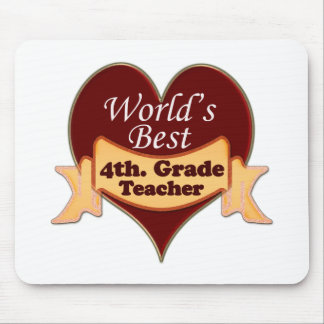 World's Best 4th. Grade Teacher Mouse Mat