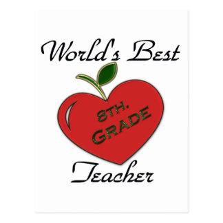 World's Best 8th. Grade Teacher Postcard