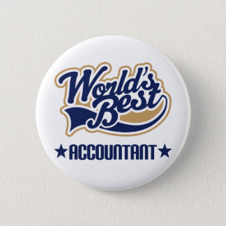 Worlds Best Accountant 6 Cm Round Badge