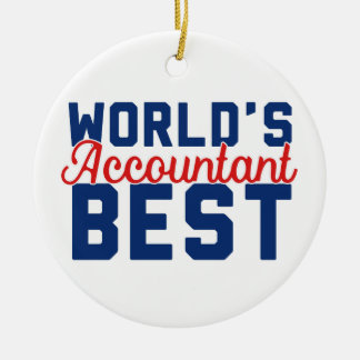 World's Best Accountant Christmas Ornament