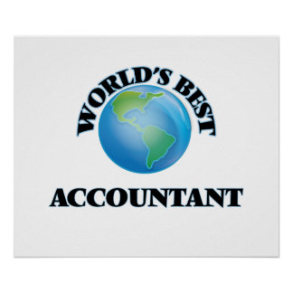 World's Best Accountant Posters