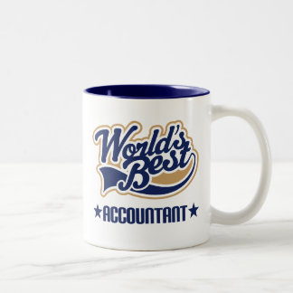 Worlds Best Accountant Two-Tone Coffee Mug
