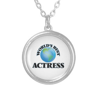 World's Best Actress Round Pendant Necklace