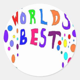 Worlds Best Add Your OWN Text Classic Round Sticker