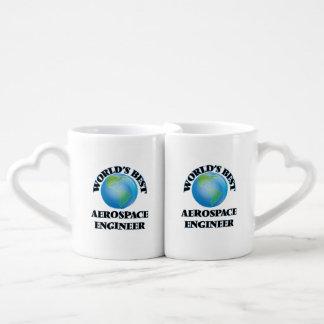 World's Best Aerospace Engineer Lovers Mug Set