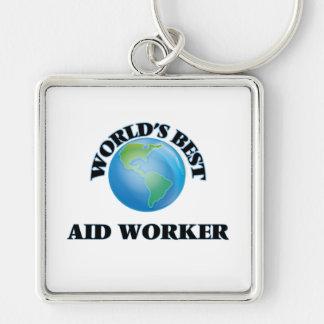 World's Best Aid Worker Key Chain