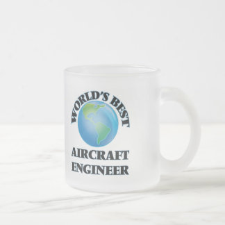 World's Best Aircraft Engineer Frosted Glass Coffee Mug