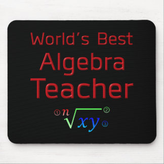 World's Best Algebra Teacher with Formula Mouse Pad