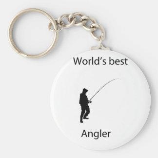 World's best angler key chain