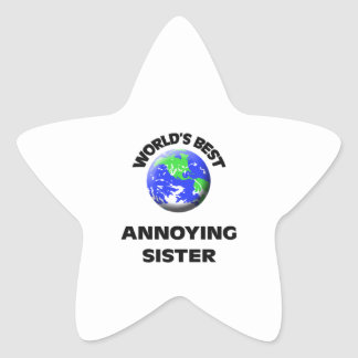 World's Best Annoying Sister Star Stickers