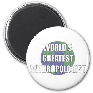 World's Best Anthropologist 6 Cm Round Magnet