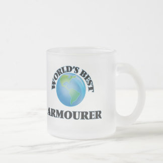 World's Best Armourer Frosted Glass Coffee Mug