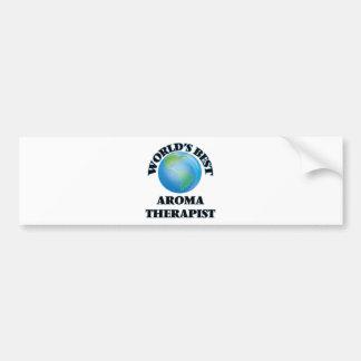 World's Best Aroma Therapist Car Bumper Sticker