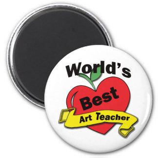 World's Best Art Teacher 6 Cm Round Magnet