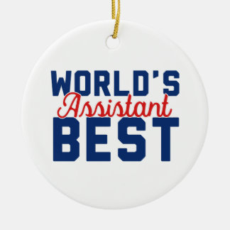 World's Best Assistant Christmas Ornament