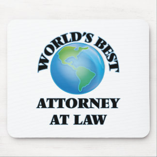 World's Best Attorney At Law Mouse Pads