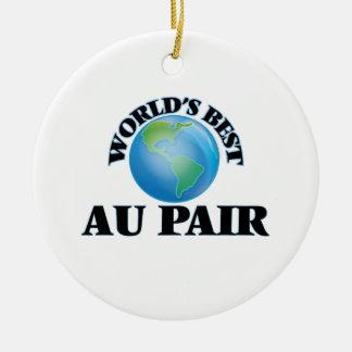World's Best Au Pair Round Ceramic Decoration