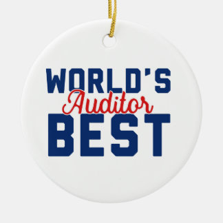 World's Best Auditor Christmas Ornament