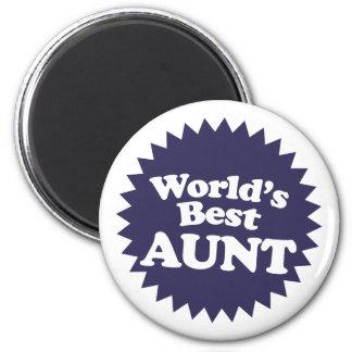 World's Best Aunt 6 Cm Round Magnet
