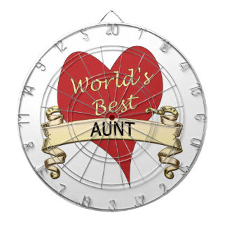 World's Best Aunt Dartboard