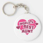 World's best Aunt Key Chain