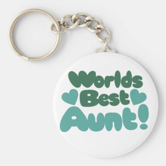 Worlds Best Aunt Key Ring