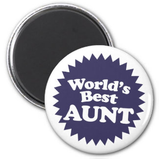 World's Best Aunt Fridge Magnet