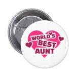 World's best Aunt Pinback Button