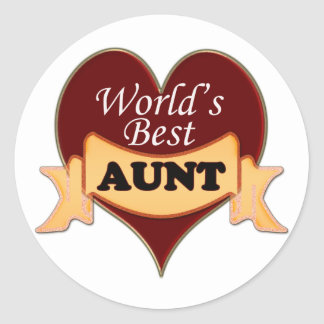World's Best Aunt Round Sticker