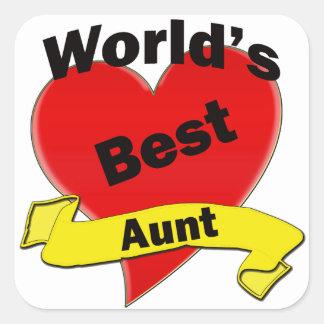 World's Best Aunt Stickers