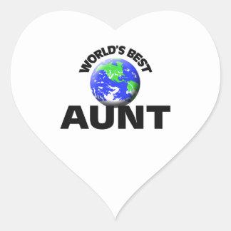 World's Best Aunt Sticker