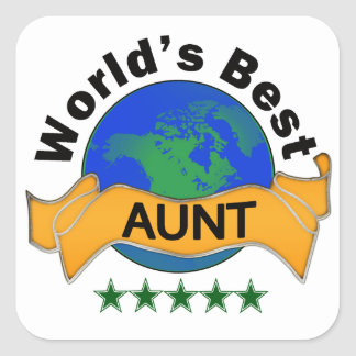World's Best Aunt Square Stickers