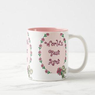 Worlds Best Aunt Two-Tone Coffee Mug