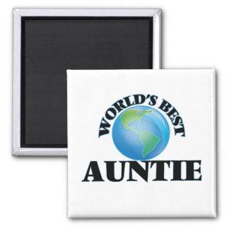 World's Best Auntie Fridge Magnets
