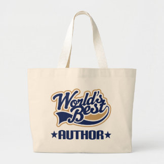 Worlds Best Author Book Tote Bag
