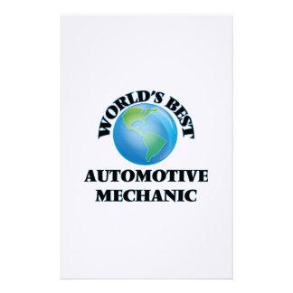 World's Best Automotive Mechanic Stationery Design