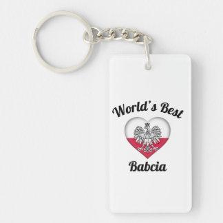 World's Best Babcia Keychain